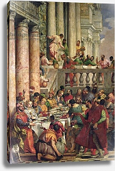 Постер Веронезе Паоло The Marriage Feast at Cana, detail of the left hand side, c.1562