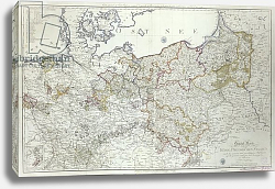 Постер Школа: Немецкая Map of the Prussian States in 1799
