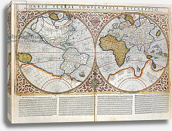 Постер Меркатор Герар Double Hemisphere World Map, 1587 2
