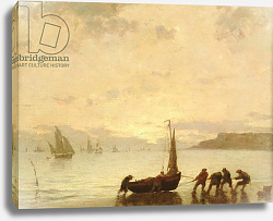 Постер Буден Эжен (Eugene Boudin) Return from Fishing with Setting Sun