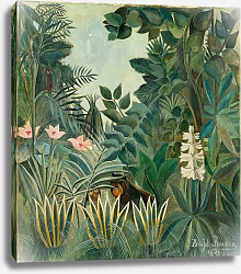 Постер Руссо Анри (Henri Rousseau) The Equatorial Jungle, 1909