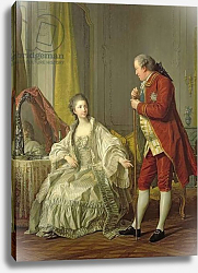 Постер Лоо Луи Portrait of the Marquis de Marigny and his Wife, Marie-Francoise Constance Julie Filleul, 1769
