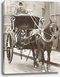 Постер A Hansom Cab in London, England in 1910