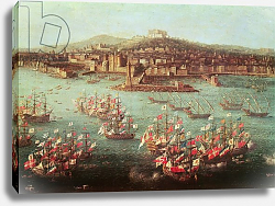 Постер Джоли Антонио The fleet of King Charles III of Spain before the city of Naples, 6 October 1759