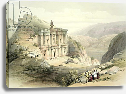 Постер Робертс Давид El Deir, Petra, March 8th 1839, plate 90 from Volume III of 'The Holy Land', pub. 1849