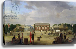 Постер Казин Жан-Чарльз View of the Grand Theatre Constructed in the Place de la Concorde for the Fete de la Paix, 1801