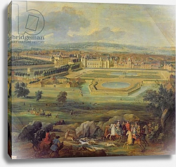 Постер Мартин Пьер View of the Palace of Fontainebleau from the Parterre of the Tiber, 1722