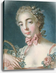 Постер Буше Франсуа (Francois Boucher) P.59-1959 Head of Flora, engraved by Louis-Marin Bonnet 1769