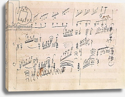 Постер Бетховен Людвиг Score sheet of 'Moonlight Sonata'