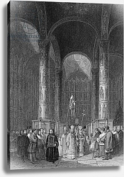 Постер Викерс альфред (грав, москва) Interior of the Grand Cathedral of the Assumption, engraved by T. Higham, 1835
