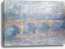 Постер Моне Клод (Claude Monet) Waterloo Bridge, London, at Sunset, 1904