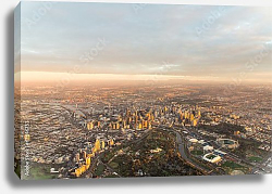Постер Австралия. Melbourne at dawn