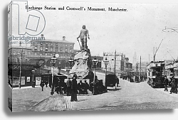 Постер Неизвестен Exchange Station and Cromwell's Monument, Manchester, c.1910