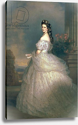 Постер Винтерхальтер Франсуа Elizabeth of Bavaria, Empress of Austria, wife of Emperor Franz Joseph of Austria