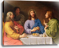 Постер Шампень Филипп The Supper at Emmaus