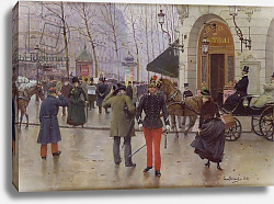 Постер Бакст Леон The Boulevard des Capucines and the Vaudeville Theatre, 1889