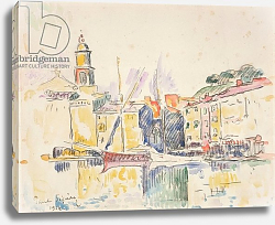 Постер Синьяк Поль (Paul Signac) French Port of St. Tropez, 1914