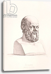 Постер Перкинс (грав) Portrait of Socrates engraved by B.Barloccini, 1849