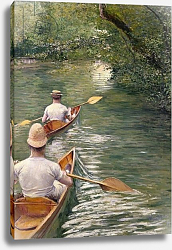 Постер Кайботт Гюстав (Gustave Caillebotte) The Canoes, 1878