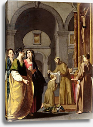 Постер Школа: Итальянская 17в. St. Clare Receiving the Veil from St. Francis of Assisi