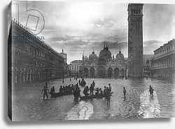 Постер View of Flooded Piazza S. Marco 1880-1920