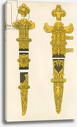 Постер Шоу Анри (акв) The Ornamental Portions of a Dagger and Sword, designed by Holbein, early 16th century