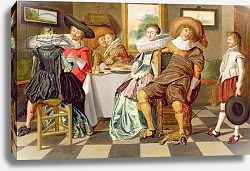 Постер Халс Дирк Elegant Figures Feasting at a Table