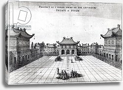 Постер Школа: Английская, 17в. Prospect of the Inner Court of the Emperor's Palace at Pekin, 1669