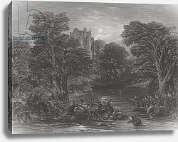 Постер Каттермол Джордж (грав) The Scots pursued after the Battle of Preston, engraved by J.C. Varrall, 1844