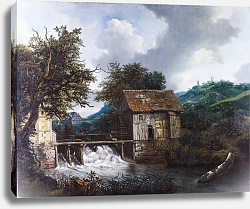 Постер Рейсдал Якоб Two Watermills and an Open Sluice at Singraven