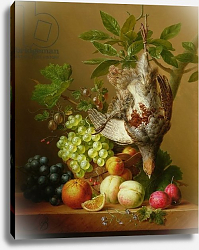 Постер Бломерс Арнольд Still Life with Fruit and a Dead Partridge