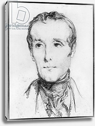 Постер Чассеро Теодор Portrait of Alphonse de Lamartine, c.1848