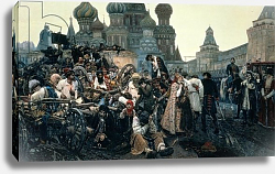 Постер Суриков Василий The Morning of the Execution of the Streltsy in 1698, 1881