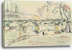 Постер Синьяк Поль (Paul Signac) The Pont des Arts, 1924