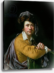 Постер Райт Джозеф Self Portrait at the age of about Forty, c.1772-3