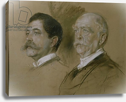 Постер Ленбах Франц Otto von Bismarck and his Son Herbert, State Secretary of the Foreign Office from 1860-90, 1892