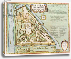 Постер Блау Джон (карты) Map showing the Kremlin, Moscow, 1662