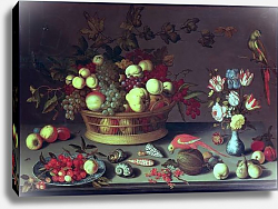 Постер Аст Балтазар A Basket of Grapes and other Fruit
