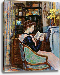 Постер Гуилаумин Арманд Mlle. Guillaumin reading, 1907