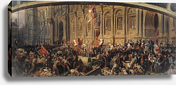 Постер Филипотекс Анри Alphonse de Lamartine Rejecting the Red Flag at the Hotel-de-Ville, Paris, 25th February 1848