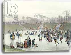 Постер Гурар Евген Skaters on the Lake at Bois de Boulogne