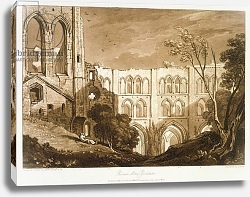 Постер Тернер Вильям (последователи) F.51.I Rivaulx Abbey, from the 'Liber Studiorum', engraved by Henry Dawe, 1812
