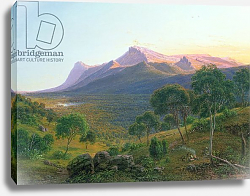 Постер Гурар Евген Aborigines by a Fire before Mount William as seen from Mount Dryden in the Grampians, Victoria, 1892