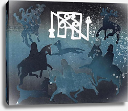 Постер Уоллингтон Глория (совр) Pictish Hunting Scene I, 1995