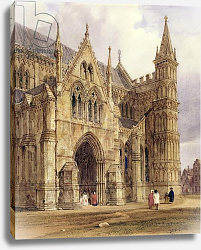 Постер Бойз Томаст (лит) The North-West Porch of Salisbury Cathedral, 1832
