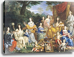 Постер Нокре Жан The Family of Louis XIV 1670 3