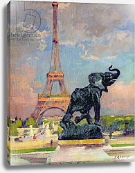 Постер Рену Жюль The Eiffel Tower and the Elephant by Fremiet