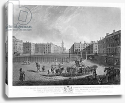 Постер Дейес Эдвард (грав) Hanover Square, from a set of four views of London squares, engraved by Robert Pollard 1781