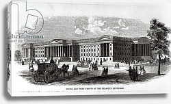 Постер Неизвестен South and West Fronts of the Treasury Extension, from 'Harper's New Monthly Magazine', 1859