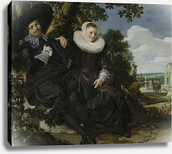 Постер Халс Франс Portrait of a Couple, Probably Isaac Abrahamsz Massa and Beatrix van der Laen, c.1622